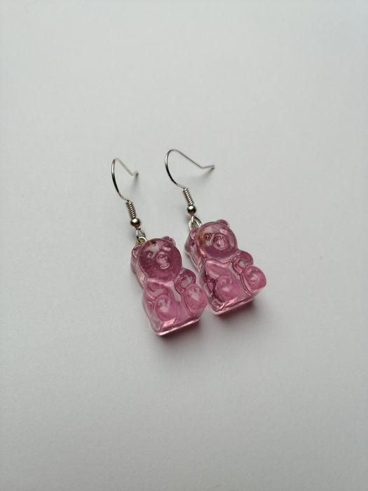 kolczyki z misiami różowe malinowe Nadarzyn - image 1