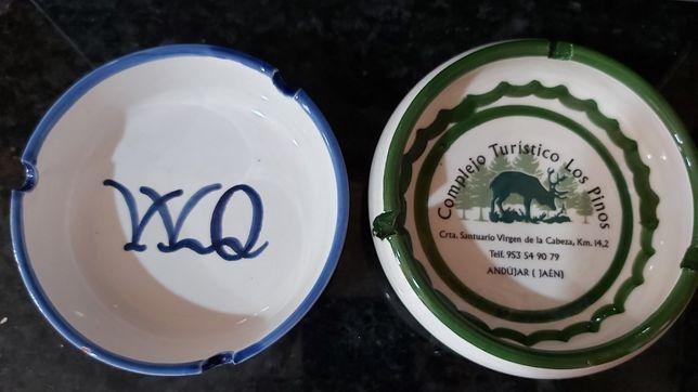 Cinzeiros cerâmica pintados à mão