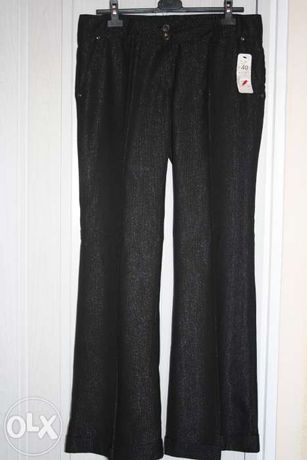 Nowe, czarne spodnie damskie, rozmiar 40