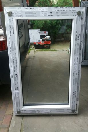 Okno salamaner białe 2-szybowe