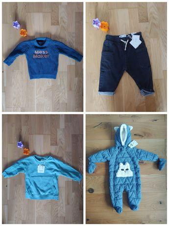 Nowe ubranka kombinezon bluza spodnie 68-74 zara Reserved 5-10-15