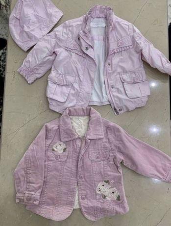 Курточки ветровки пиджаки джинсовая куртка mothercare chicco 9-12 мес