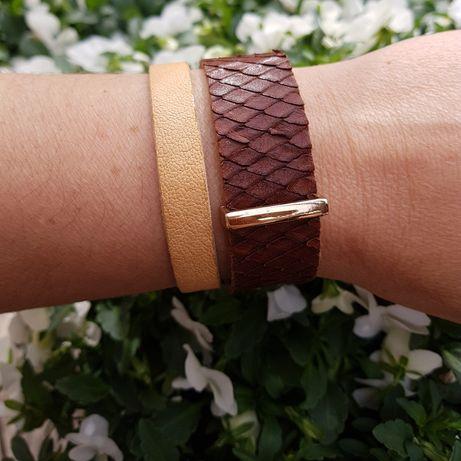 Barboleta biżuteria ręcznie robiona bransoletka skóra