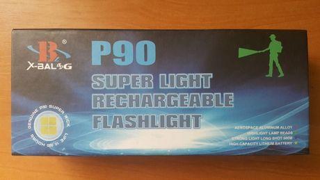 Мощнейший ручной аккумуляторный фонарь BL-1827-P90 фонарик