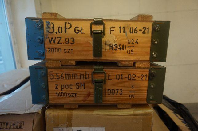 Skrzynia wojskowa drewniana, wz.43 N2 kufer ,walizka, loft, 40x35x15