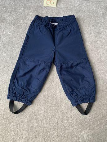 86 spodnie przeciwdeszczowe  kappahl kaxs granatowe ubranka