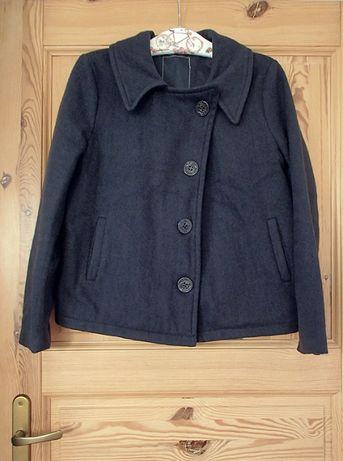 kurtka krótki płaszcz może być ciążowy S wełna 80%