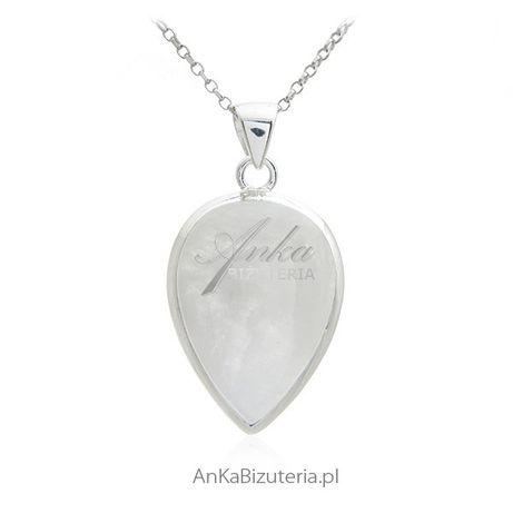 ankabizuteria.pl Biżuteria srebrna - zawieszka z kamieniem księżycowy