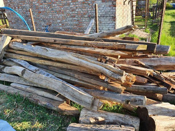 Belki drewniane z rozbiórki stodoły