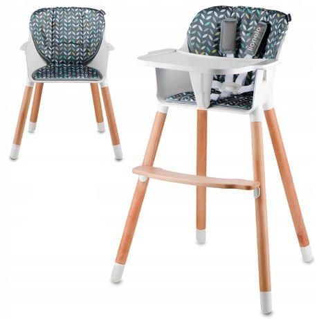 Drewniane krzesło i krzesełko do karmienia 2 w 1 Lionelo Koen do 40 kg