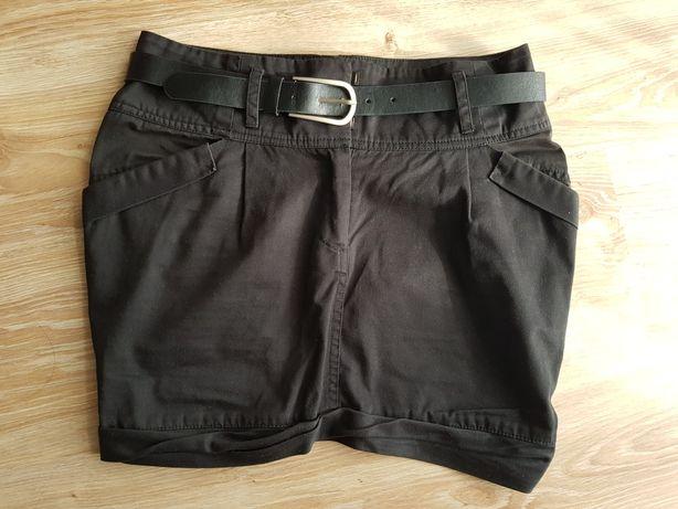 Top Secret spódnica czarna z kieszeniami i paskiem 36 S