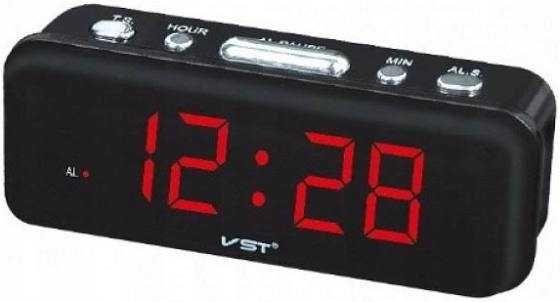 Zegar budzik elektroniczny cyfrowy sieciowy LED