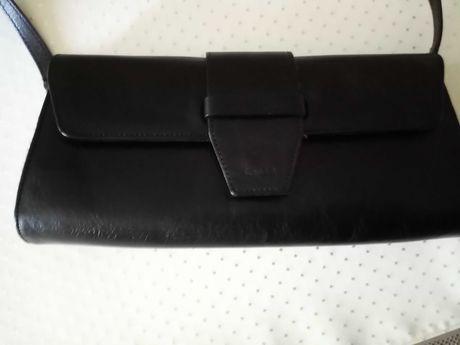 Skórzana, elegancka czarna kopertówka firmy VERSO, NOWA