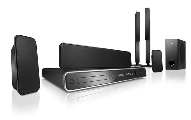 Kino domowe Philips HTS3367 5:1 600W DVD USB AUX - Dźwięk Przestrzenny