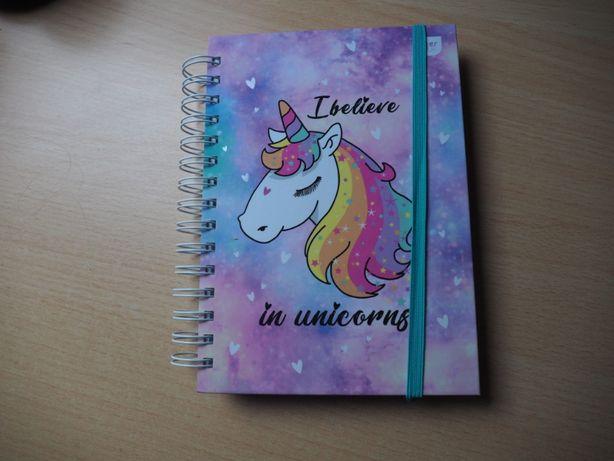 Nowy kołonotatnik zeszyt Unicorn Jednorożec twarda oprawa