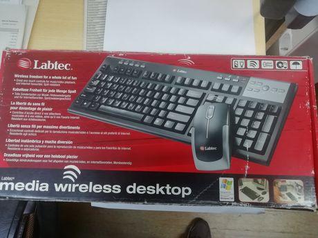 Teclado wireless da marca Labtec (novo) s/rato
