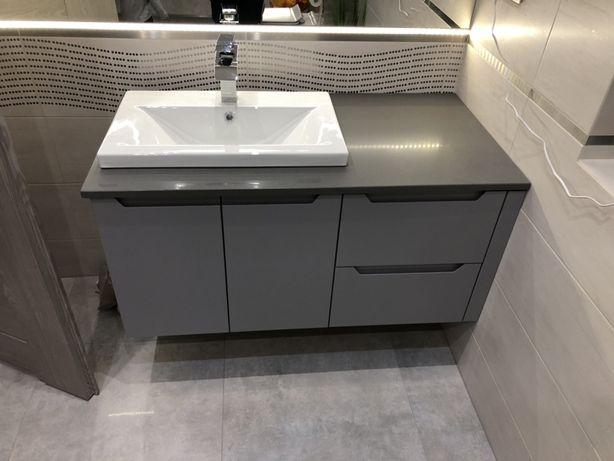 Blaty łazienkowe i kuchenne z konglomeratu i granitu