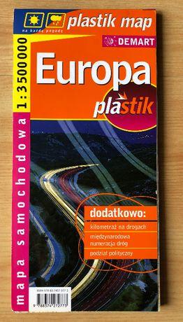 Europa – mapa samochodowa, laminowana