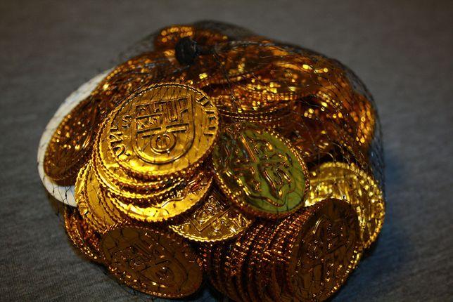 Metalowe, plastikowe złote MONETY do gier planszowych
