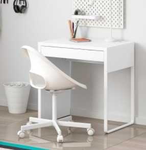 Secretária branca MICKE IKEA