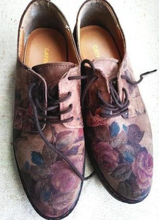 Catwalk! фирменные! натуральная кожа. цветочный принт 39р