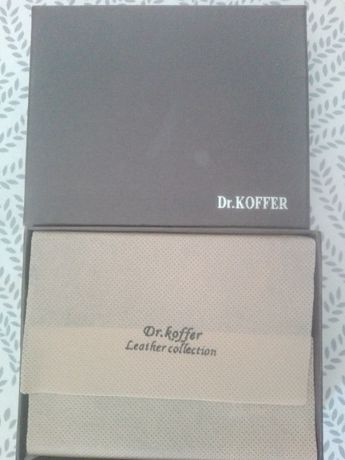 Dr. Koffer portfel skórzany