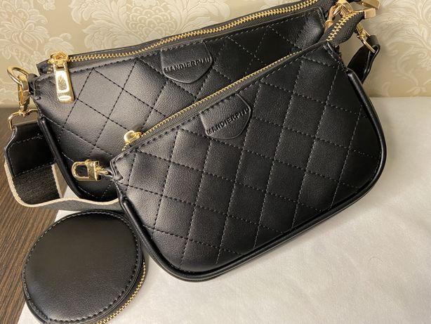 Модная двойная сумка с кошелечком