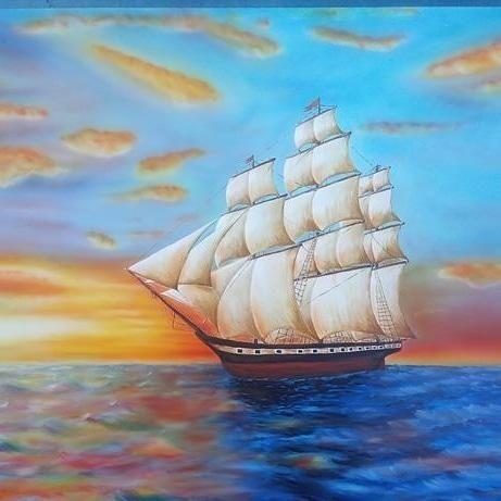 Картина флорисцентной краской