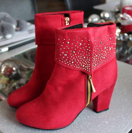 Buty czerwone  rozmiar 38