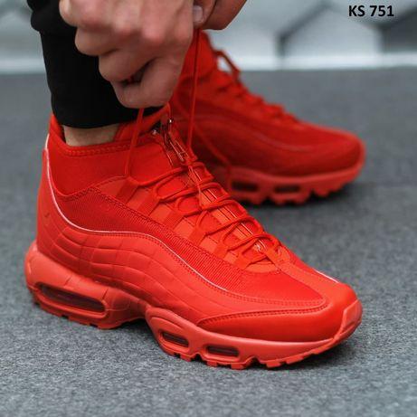 Nike Air Max 95 Sneakerboot (красные)