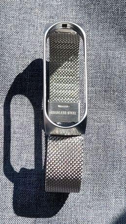 Ремешок Xiaomi MiBand 3 | 4. Нержавеющая сталь. Серебряный цвет