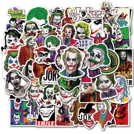 Naklejki Joker 50 szt..z filmu Batman na bagaż, komputer, deskorolkę