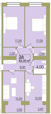 Продам, 3-кімнатну, Центр,82м.кв.