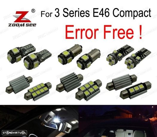 KIT COMPLETO DE 18 LÂMPADAS LED INTERIOR PARA BMW SERIE 3 E46 COMPACTO 316TI 318TD 318TI 320TD 325T