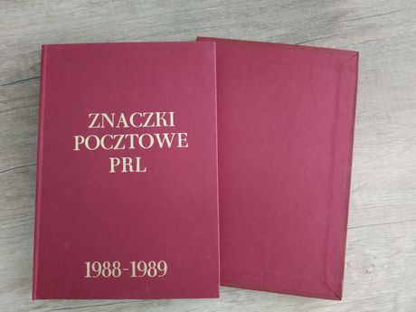 Klaser znaczki pocztowe PRL 1988/1989