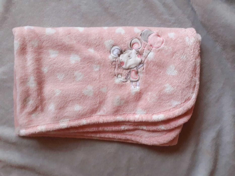 Kocyk dla dziewczynki różowy stan idealny Szydłowiec - image 1