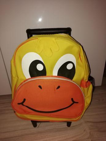Plecak dziecięcy i walizka 2 w 1
