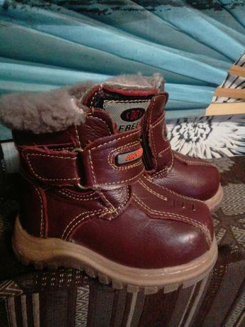 Сапоги, ботинки зимние из натур. кожи и натур. мех размер 21