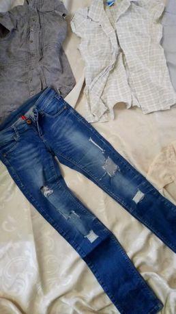 джинсы кофта блузка юбка размер xs-s