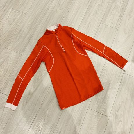 Bluza narciarska sportowa męska rozmiar L pomarańczowa