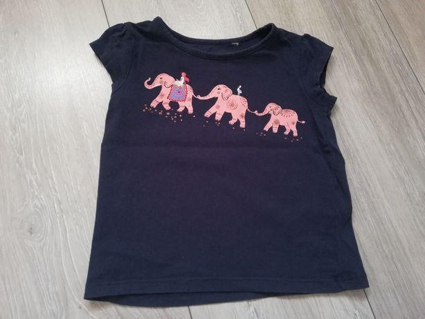 Granatowa koszulka dziewczęca