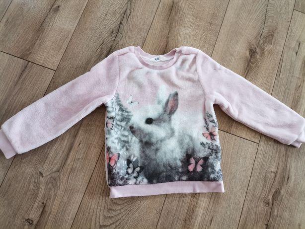 Bluza polarowa z królikiem H&M roz 98/104
