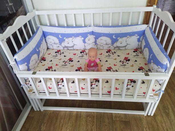 Детская кроватка белая Продана