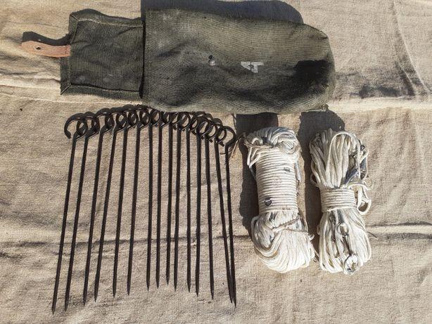 Linka sapreska minerska sznur + szpilki + pokrowiec brezentowy