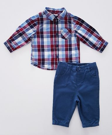 Zestaw dla małego eleganta koszula + spodnie 68