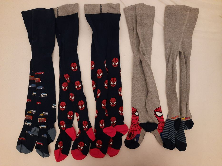 7 par rajstop 5-6lat, nieużywane, spiderman, autka. Chrzanów - image 1