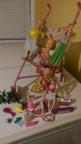 Игрушки каляска для девочки.Цена за все фото
