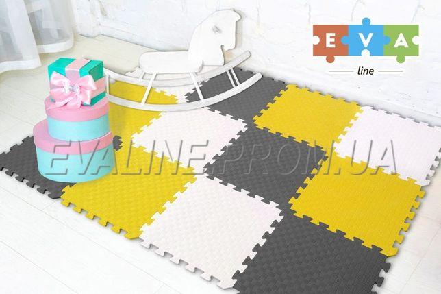 Коврик пазл (мягкий пол) 200*150*1 см EVA-LINE разноцветный 12 пазлов