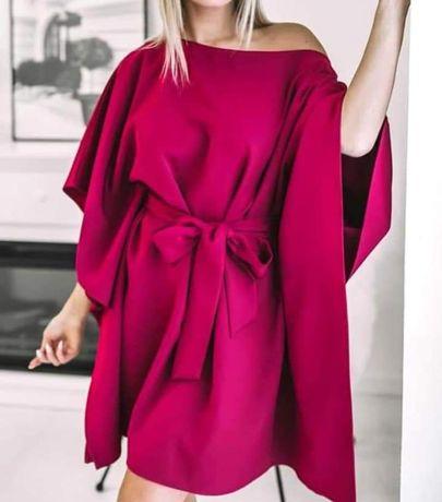 Sukienka kimono luźna kolory xs s m l xl xxl sama regulujesz długość
