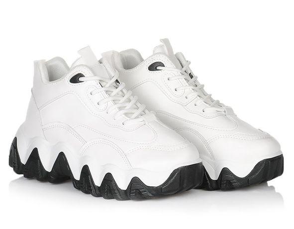 Белые женские кроссовки на платформе осенняя обувь осень 36-41
